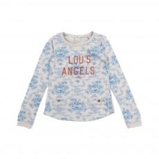 T-shirt Lou's Angels Bleu turquoise