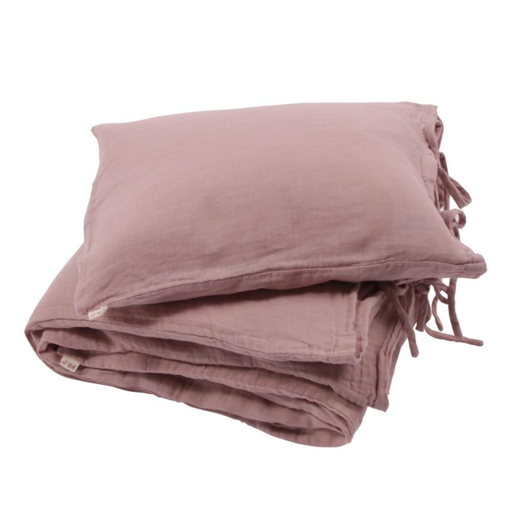 parure de lit vieux rose numero 74 univers b b smallable. Black Bedroom Furniture Sets. Home Design Ideas