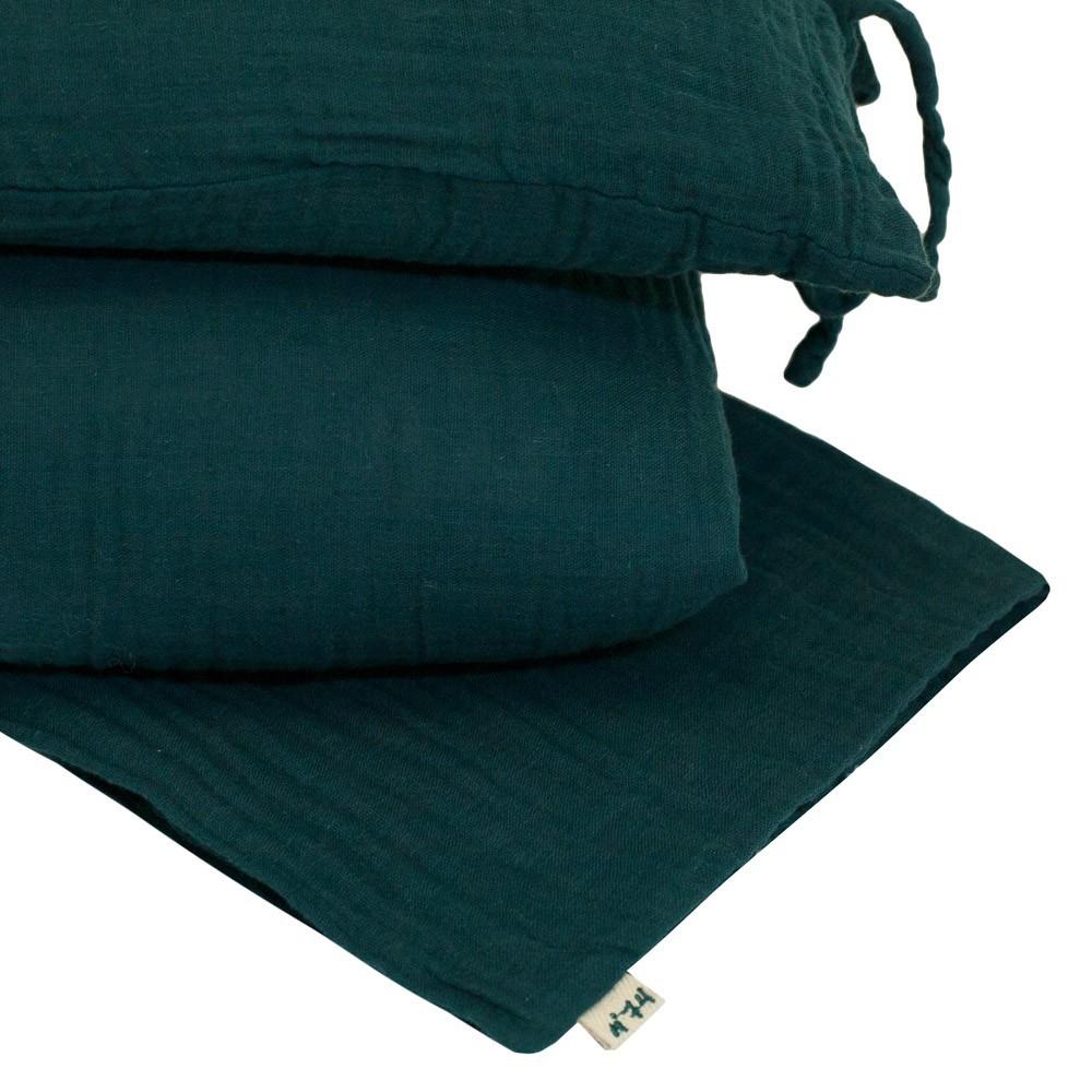 parure de lit bleu p trole numero 74 univers b b smallable. Black Bedroom Furniture Sets. Home Design Ideas