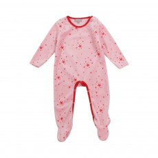 Pyjama Etoiles Base Velours Bébé Rose