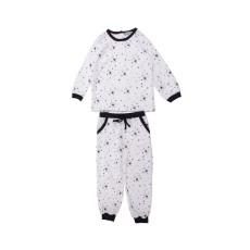 Pyjama Etoiles Base Velours Blanc