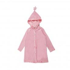 Robe De Chambre Etoiles Base Velours Rose pâle