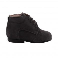 Chaussures Suede Premiers Pas Gris charbon