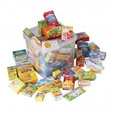 Caisse de boîtes de nourriture 40 miniatures