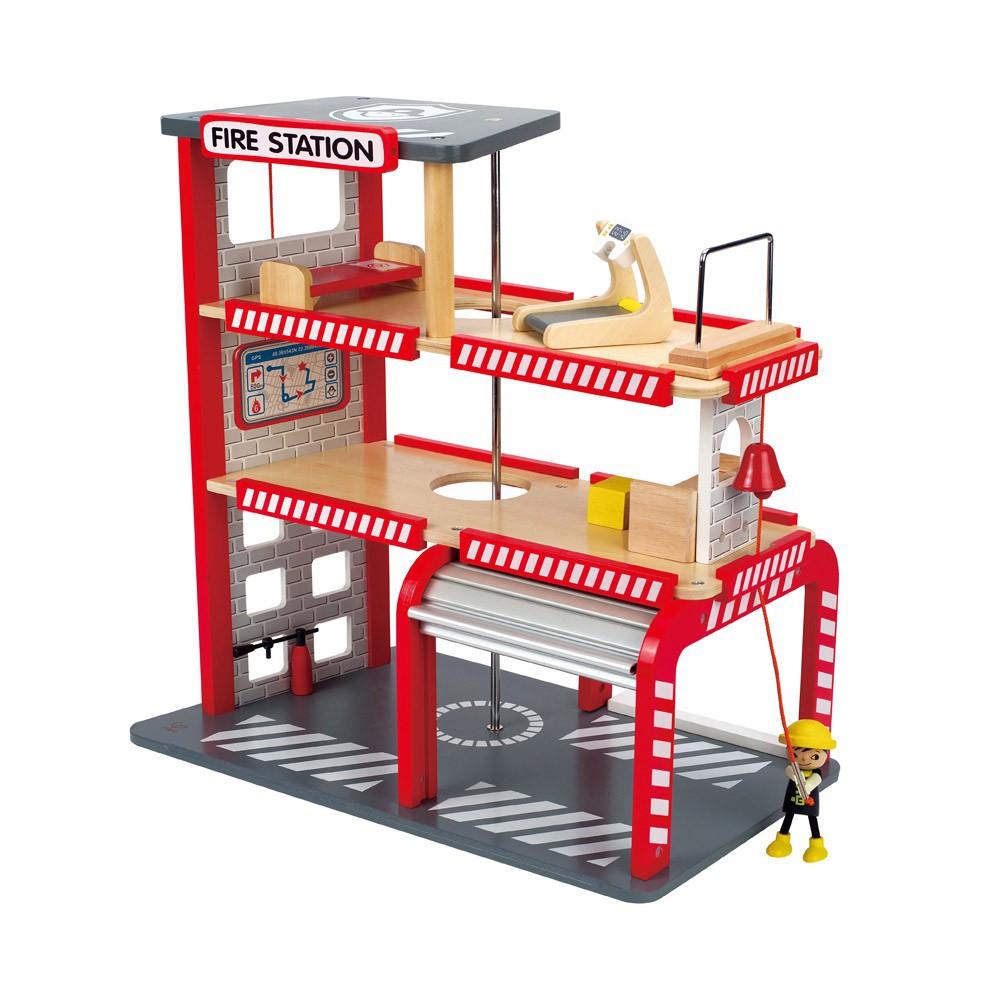 Garage En Bois Hape : Caserne de pompiers Hape – Jeux, jouets, loisirs Enfant – Smallable