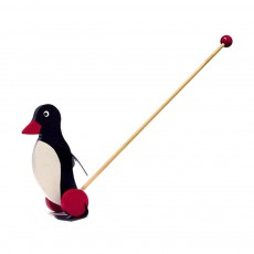 Jouet à pousser pingouin