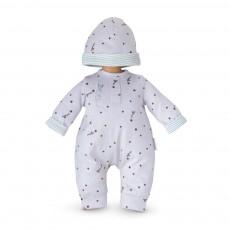 Mon Premier - Pyjama Gris Etoile et bonnet 30 cm