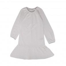 Chemise De Nuit Pois Nautique Blanc