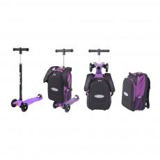 Trottinette Maxi Micro 4en1 avec sac - Violet