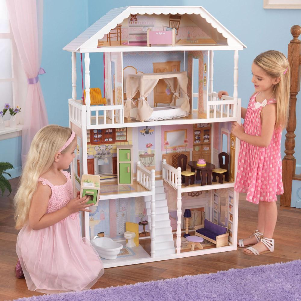 maison de poup e savannah kidkraft jeux jouets loisirs. Black Bedroom Furniture Sets. Home Design Ideas
