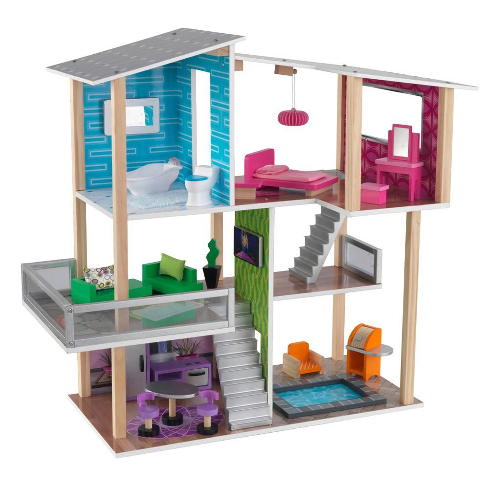 maison de poup e moderne kidkraft jeux jouets loisirs. Black Bedroom Furniture Sets. Home Design Ideas