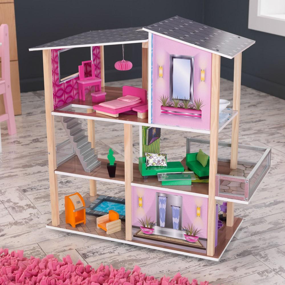maison de poup e moderne kidkraft jeux jouets loisirs enfant smallable. Black Bedroom Furniture Sets. Home Design Ideas