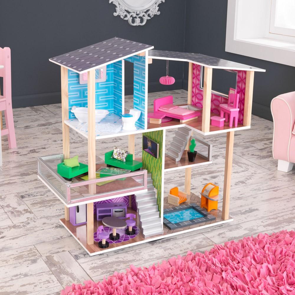 Maison de poup e moderne kidkraft jeux jouets loisirs for Maison moderne kidkraft