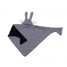 Doudou triangle ange lapin marinière