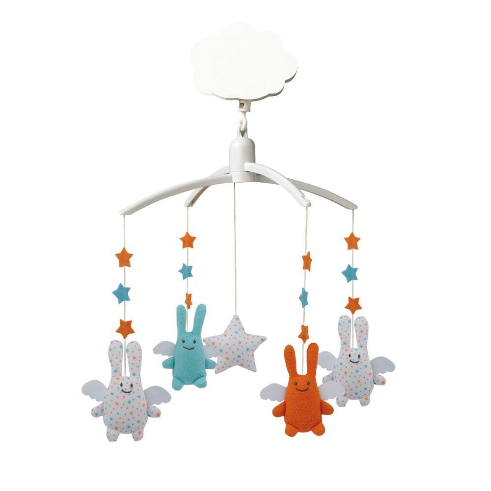 mobile musical ange lapin toiles trousselier jeux jouets loisirs enfant smallable. Black Bedroom Furniture Sets. Home Design Ideas