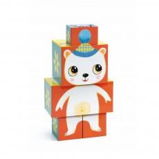 Cubes Animaux de bois
