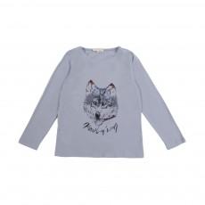 T-Shirt Loup Bleu