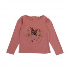 T-Shirt Fronces Faon Bébé Vieux Rose
