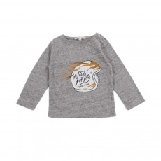 T-Shirt Lust for Life Bébé Gris chiné