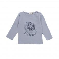 T-Shirt Renard Bébé Bleu