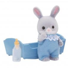 Bébé lapin gris - Garçon