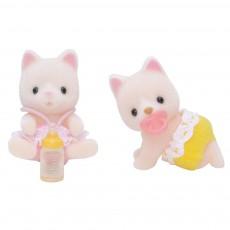 Jumeaux chats soie