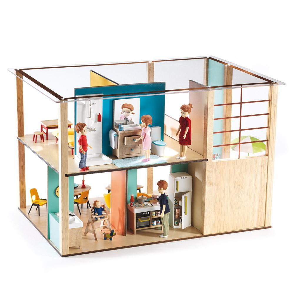 maison de poup es cubic house djeco jeux jouets loisirs enfant smallable. Black Bedroom Furniture Sets. Home Design Ideas