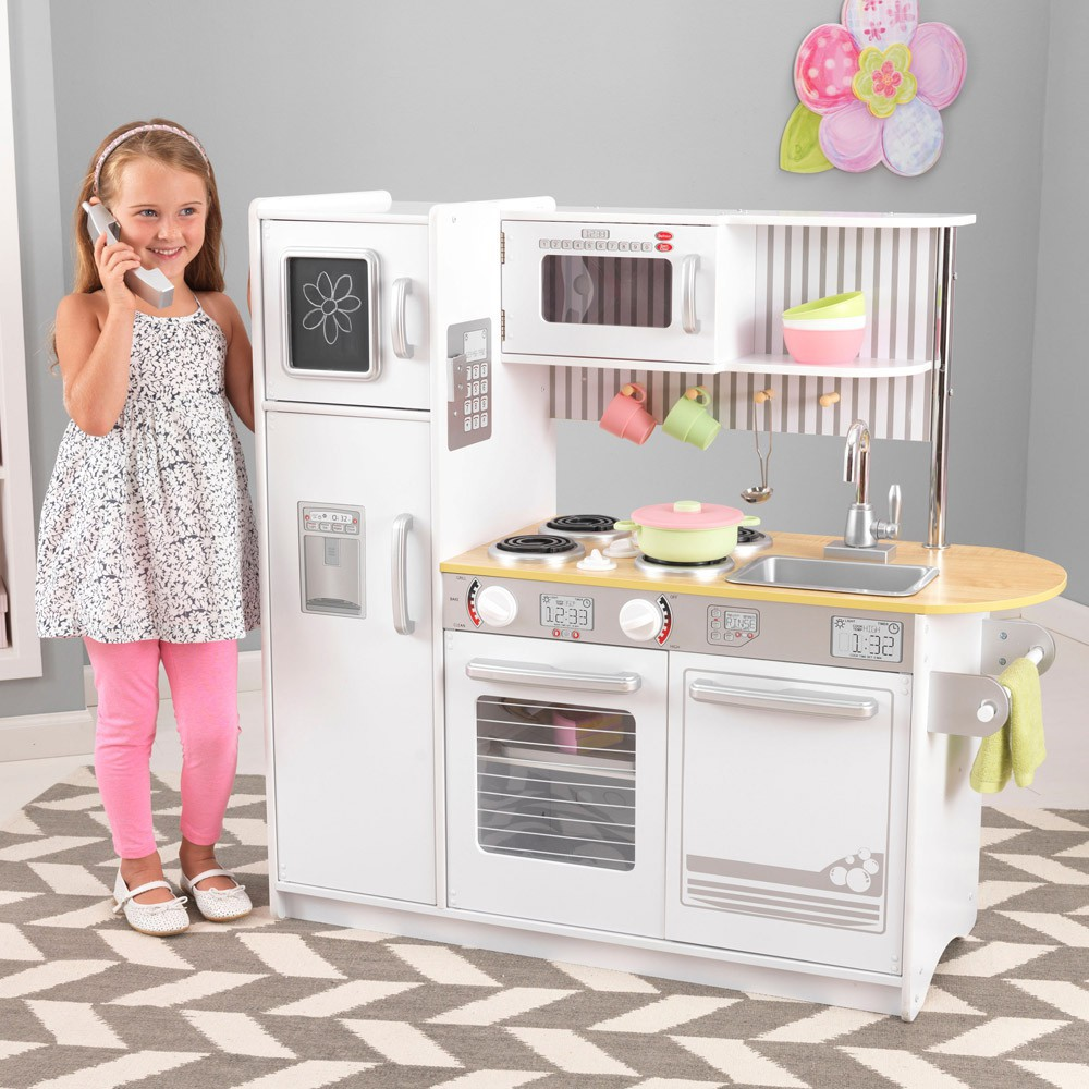 cuisine uptown blanche kidkraft jeux jouets loisirs enfant smallable. Black Bedroom Furniture Sets. Home Design Ideas