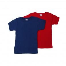 Lot de 2 T-Shirts Manches Courtes Garçon Multicolore
