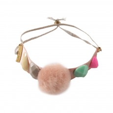 Bracelet Jewels Pompom Rose