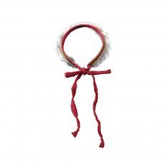 Serre-tête Fur Glitter Rouge framboise