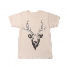 T-Shirt Moose Head Coton Bio Crème