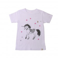 T-Shirt Unicorn Blanc
