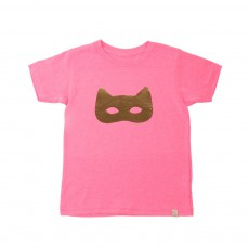T-Shirt Cat Mask Rose