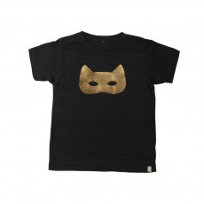 T-Shirt Cat Mask Noir
