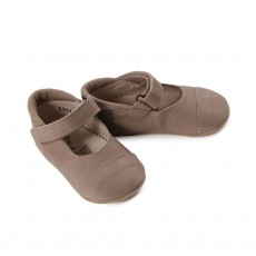 Velcro baby Ballerina Shoes - Beige Sable