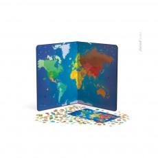Carte du monde magnétique - Animaux