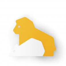 Patère Le lion et le rat