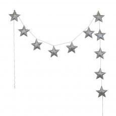 Guirlande mini-étoiles - Argenté