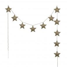 Guirlande mini-étoiles - Doré