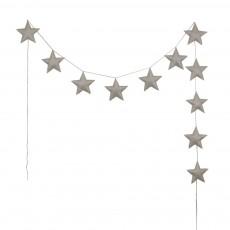 Guirlande mini-étoiles - Crème
