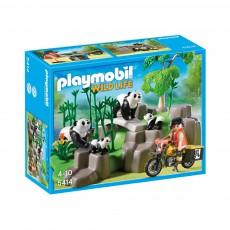 Famille de pandas et bambous réf.5414