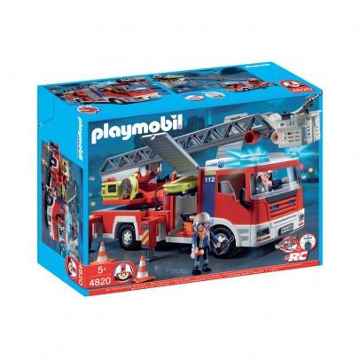 playmobil 4820 camion de pompiers grande chelle moins cher police et pompiers playmobil. Black Bedroom Furniture Sets. Home Design Ideas