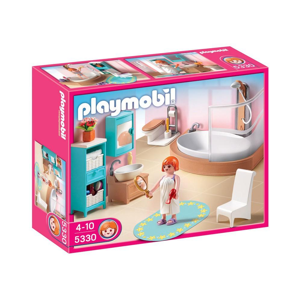 Salle de bains avec baignoire et pare douche r for Salle bain playmobil