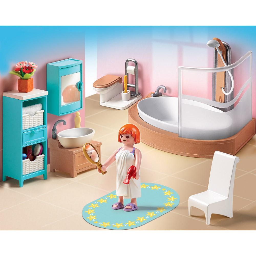 salle de bains avec baignoire et pare douche r. Black Bedroom Furniture Sets. Home Design Ideas