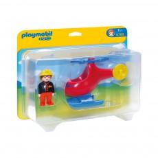 Pompier avec hélicoptère  réf.6789