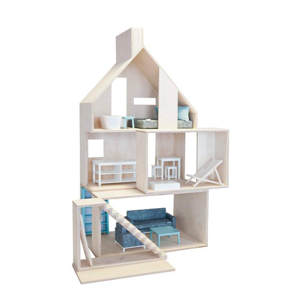 maison de poup e miniwood boomini jeux jouets loisirs. Black Bedroom Furniture Sets. Home Design Ideas
