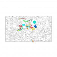 Coloriage géant Jeff Koons