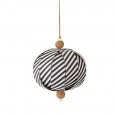 Boule décorative papier - Rayures noires