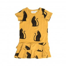 Robe Volants Chats Beige